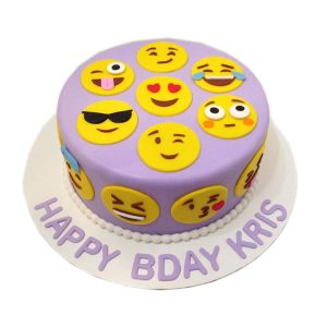 Emoji Faces Cake