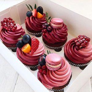 – Pomegranate Cupcake